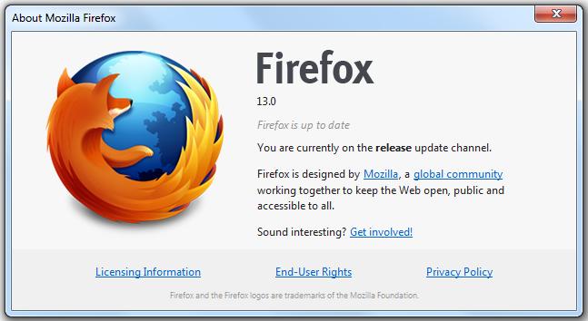 Firefox 13.0