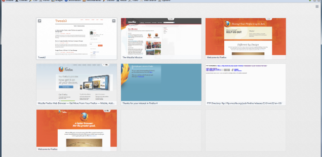 Firefox 13.0 New Tab Page