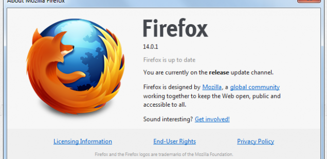 Mozilla Firefox 14.0.1