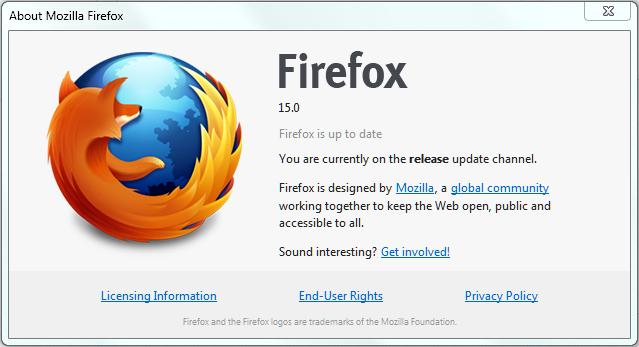 Firefox 15.0