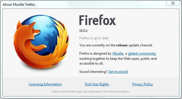 Firefox 16.0.1