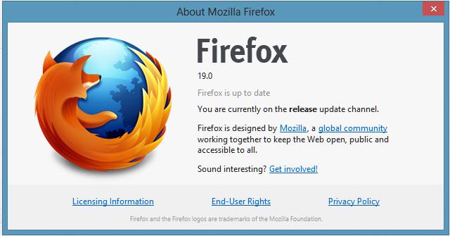 Mozilla Firefox 19.0