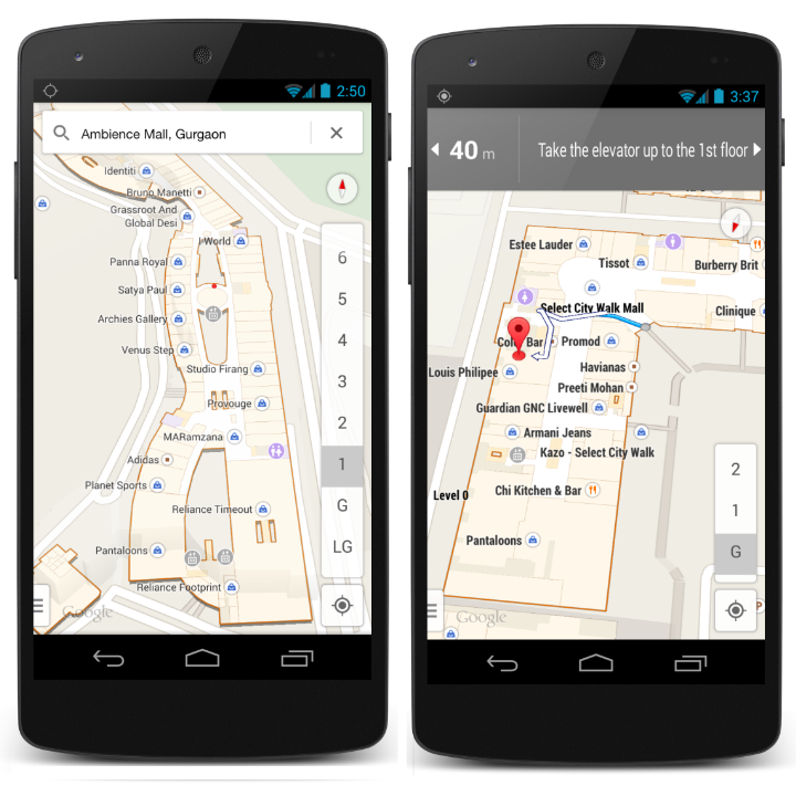 Google indoor maps india
