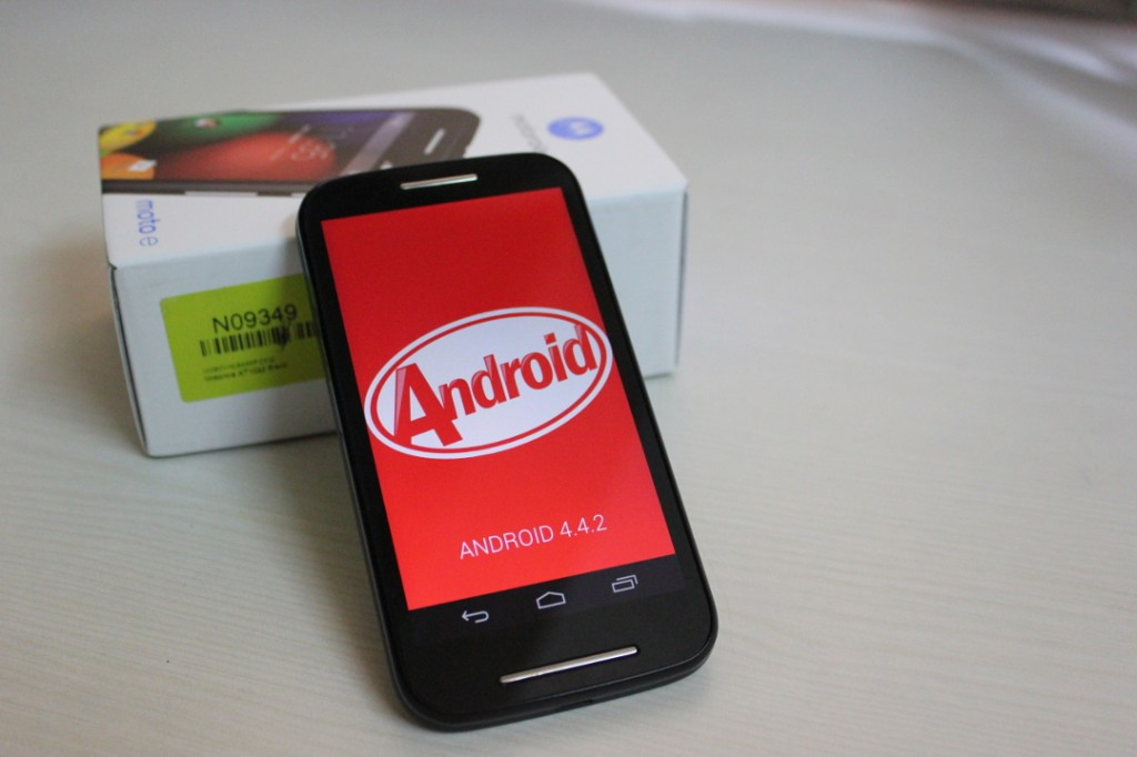 Moto E running Android 4.4.2