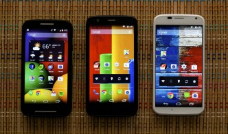Mot E, Moto G and Moto X